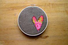 heart on burlap