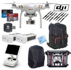 DJI Phantom 3 Professional Quadcopter Drone with 4K UHD Video Camera & CS Kit