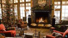 Home Design Ideas Christmas Goals Decor Cabin Christmas, Christmas Living Rooms, Christmas Fireplace, Christmas Room, Fireplace Mantels, Rustic Christmas, Fireplace Ideas, Rustic Thanksgiving, Christmas Trees