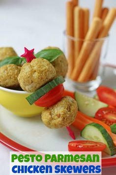 Delicious chicken meatballs made with just 5 simple ingredients and flavoured with basil pesto and parmesan. Perfect for a finger food dinner for kids or even mixed into spaghetti and sauce. Picky Toddler Meals, Healthy Meals For Kids, Dinners For Kids, Kids Meals, Healthy Recipes, Toddler Dinners, Toddler Lunches, Toddler Food, Healthy Food