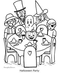 Halloween Coloring Pages | These free, printable Halloween coloring pages provide hours of fun ...