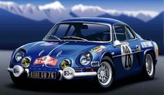 Renault Alpine A110 1971 - Modely rally