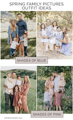 7 Tips for Choosing Outfits for Family Pictures   Merrick's Art Fall Family Picture Outfits, Spring Family Pictures, Family Picture Colors, Family Photos What To Wear, Outdoor Family Photos, Outfits For Family Pictures, Family Pics, Outdoor Baby Pictures, Family Picture Poses