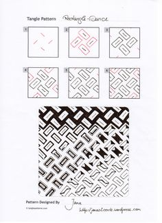 Rectangle Dance~Zentangle