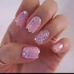 Classy Nails, Stylish Nails, Trendy Nail Art, Glitter Nail Art, Glitter Gel Nails, Crackle Nails, Foil Nail Art, Nagel Gel, Toe Nails