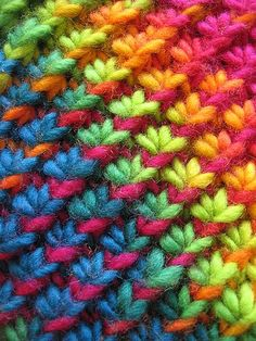 This a fabulous knitting stitch, dont you think?  Holding Hands, Feeding Ducks by Morgen Dämmerung, and the pattern can be found on Ravelry for free here.   Edited to add:  Apologies to all.  I accidently misrepresented this as a crochet stitch and have amended my post to reflect that is in fact a knitting stitch.  So sorry.  I was under the misunderstanding that it was Tunisian Crochet.  Thanks!  Claire x