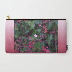 Pink Dainty Flower Carry-All Pouch