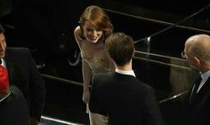 Emma Stone and Andrew Garfield at the 2017 Academy Awards