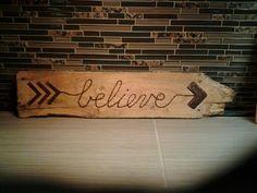 """Rustic """"believe"""" wall art"""
