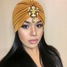 GOLD Jeweled Turban Great Gatsby Bohemian Boho Turbanista Chic Turban #glamour Gems Grecian Gypsy Birthday Party