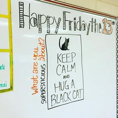I LOVE #fridaythe13th!! Mostly because it's Friday..... #iteach7th #iteachtoo #teachersofinstagram #teachersfollowteachers #miss5thswhiteboard