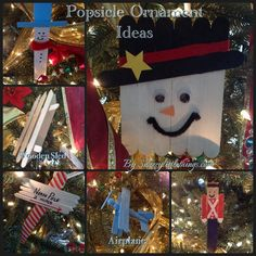 "Popsicle stick ornaments I made several years ago....hop over to the blog to see the ""12 Days of Christmas"" home tours at http://snazzylittlethings.com/holiday-home-tour-2013/"