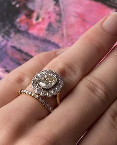 Vintage & vintage-inspired engagement ring duo: shop Trumpet & Horn rings!