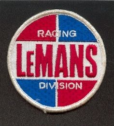 Vintage LeMans Race Car Motorcycle Patch 1 Racing