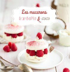 Découvrez notre recette facile et gourmande des macarons framboise et noix de coco façon sandwich ! Un dessert bien frais et savoureux !
