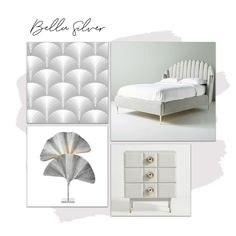 A bespoke design brought to you by I Love Wallpaper. Create a sophisticated and stylish Bedroom with the Bella Wallpaper.  For more colours and similar designs visit ilovewallpaper.co.uk #wallpaper #homedecor #home #interiordesign #moodboard