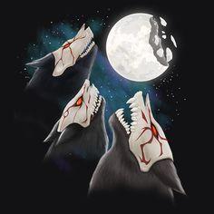 RWBY Three Beowolf Moon Shirt | Rooster Teeth Store