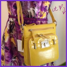 """Yes Ma'am, You Put the Yell in Yellow"" NWT bag💛 Yummy yellow genuine leather crossbody!! New with tags!! Has label tag but not price tag. Very versatile with zippered storage galore! Zippered and slide pocket inside, snap pocket on back side and front zippered flap that opens up to reveal a license holder, etc! Adjustable strap. Measures 8 by 8 inches 💛💛💛you will love this bag💛💛💛! Croft & Barrow Bags"