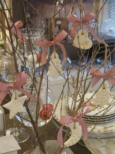 craft room - γάμος, βάπτιση, διακόσμηση: Χριστουγεννιάτικα στολίδια από πηλό