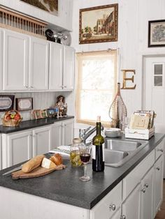eclectic antique-filled kitchen