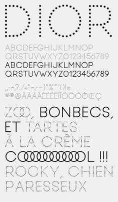 christopheraritter:  Dot typeface by Trafik. #typography #typographyinspired #type #typespire #typeverything #typeface