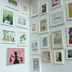 A colorful picture wall - Tea Party Inspiration From Crown & Crumpet