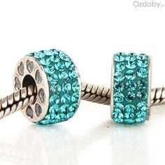 Niebieskie koraliki do biżuterii modułowej