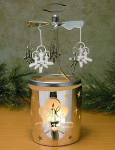 Candle Spinner Collection - Decoration Accents that Will Brighten up A – Relevant Gifts Unique Candle Holders, Unique Candles, Christmas Candles, Christmas Decorations, Mason Jar Lamp, Frosted Glass, Scandinavian Design, Tea Lights, Table Lamp