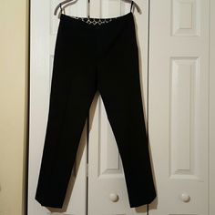 INC straight leg black pants Great condition pants, straight leg ankle pants. INC International Concepts Pants Ankle & Cropped