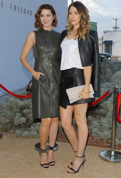 Celebrities In Leather: Mary Elizabeth Winstead and Amanda Crew are wearin...