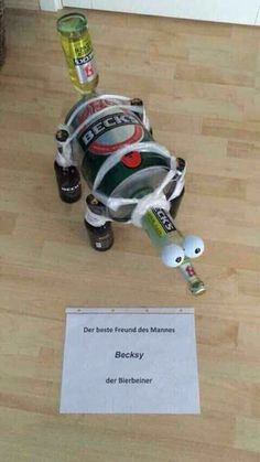 jpg'- Eine von 25064 Dateien in der Kategorie '… funny picture – Becksy.jpg – One of 25064 files in the category & # funny pictures & # on FUNPOT. Diy Birthday, Birthday Presents, Birthday Cake, Friend Birthday, Birthday Parties, Diy Presents, Diy Gifts, Funny Presents, Beer Packaging