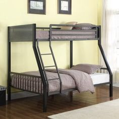 Coaster Bunks Metal Twin over Full Loft Bunk Bed - Coaster Fine Furniture