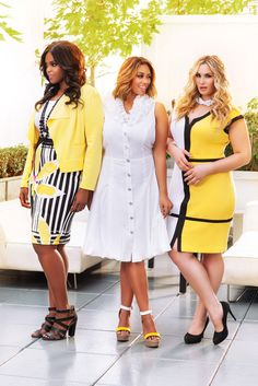 Ashley Stewart Models Monique Robinson, Britnee Blair and Arissa Lebrock