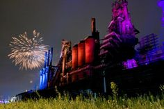 Steel Stacks lit up, so excited to have our reception here