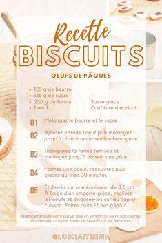 Recette 100% gourmande avec en bonus un DIY pour créer votre propre emporte-pièce en forme d'oeuf ! Biscuits, Blog, Shape, Crack Crackers, Cookies, Biscuit, Blogging, Cookie Recipes