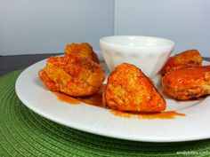 Emily Bites - Weight Watchers Friendly Recipes: Buffalo Chicken Meatballs (Slow Cooker)