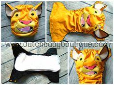 Simba Lion King Lion Cub Inspired OS Ai2 Cloth Diaper www.facebook.com/DutchBabyBoutique.com www.dutchbabyboutique.com
