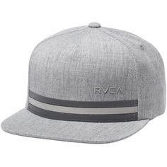 RVCA Barlow Twill III Snapback Hat ($26) ❤ liked on Polyvore featuring accessories, hats, rvca hats, rvca snapback, twill hat, snap back hats and striped hat