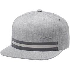 RVCA Barlow Twill III Snapback Hat ($26) ❤ liked on Polyvore featuring accessories, hats, rvca hats, rvca snapback, twill hat, snap back hats and striped hat