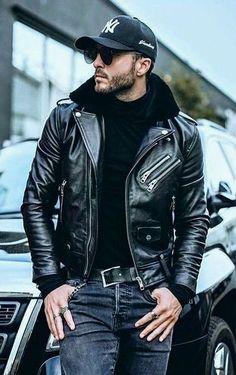 You cannot go wrong with the cutting edge style statement known as Men's collection. You can have the best available to look awesome at an astounding price. Leather Jacket Outfits, Men's Leather Jacket, Biker Leather, Leather Men, Leather Jackets, Black Leather, Jacket Men, Moto Jacket, Hoodie Jacket