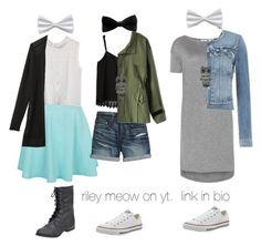 """""""SCHOOL OUTFIT INSPO 15"""" by riley-meow on Polyvore featuring New Look, Athleta, Canvas by Lands' End, Chicwish, Mudd, Converse, T By Alexander Wang and Paige Denim"""