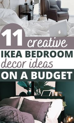 These genius IKEA bedroom furniture hacks are guaranteed to freshen up your bedroom. Organize and create extra storage with ease by using these 11 beautiful IKEA hacks. Learn how to transform your nightstand and dresser as well as you headboard. These DIY hacks are ideal for small spaces. Ikea Hack Storage, Ikea Hacks, Diy Hacks, Storage Ideas, Home Decor Hacks, Cheap Home Decor, Ikea Bed Frames, Ikea Bedroom Furniture, Bedroom Hacks