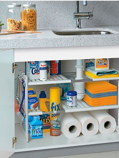 35 Inspiring Diy Kitchen Storage Solutions Ideas For Your Small Kitchen - There are many ideas for creating storage space in your kitchen, this article will show you how to make the most of what you have, in terms of space a. Kitchen Organization Pantry, Kitchen Storage Solutions, Diy Kitchen Storage, Home Organization, Drawer Storage, Wall Storage, Tiny House Storage, Organized Kitchen, Kitchen Pantry