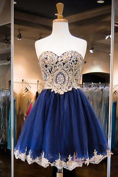 Sparkle Sweetheart Short Royal Blue Homecoming Party Dress