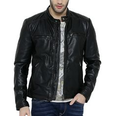 Slim Fit Black Leather Jacket
