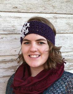 Purple Crocheted Headband  $12.50 USD