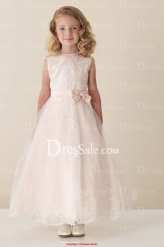 Discount, Sweet and Fascinating sleeveless A-line Flower Girl Dresses