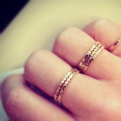 anneaux crantés #beauties #rings