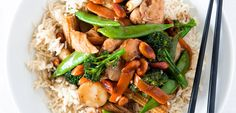Chicken and broccolini stirfry recipe, NZ Womans Weekly – This is ideal for preparing before your guests arrive - Eat Well (formerly Bite) Stir Fry Recipes, Cooking Recipes, Beef Meatball Recipe, Beef Brisket Recipes, Beef Sirloin, Beef Stir Fry, Asian Recipes, Ethnic Recipes, Chicken Recipes
