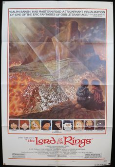 Vintage The Lord of the Rings  Rare 1978 by ScreenlandMoviepaper